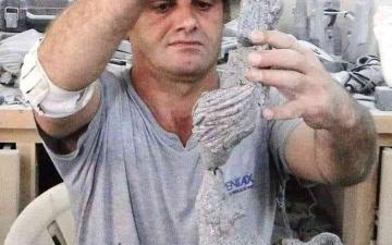 الصورة: الصورة: رحيل النحات السوري فؤاد أبو عساف عن 55 عاماً