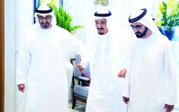 الصورة: الصورة: محمد بن راشد ومحمد بن زايد: علاقات الإمارات والسعودية أخوية واستراتيجية راسخة