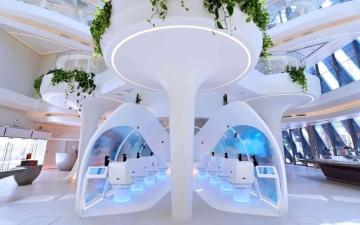 الصورة: الصورة: جناح طيران الإمارات جاهز لاستقبال زوار إكسبو دبي 2020