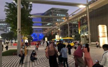 الصورة: الصورة: في تشغيل تجريبي.. إكسبو 2020 دبي يستقبل آلاف الزوار