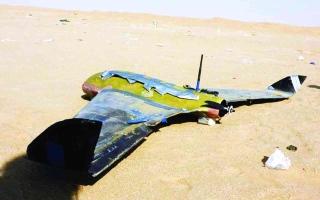 الصورة: الصورة: تدمير مفخختين حوثيتين باتجاه السعودية