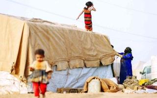 الصورة: الصورة: جرائم حوثية بحق النازحين جنوب مأرب