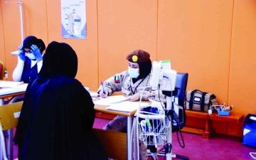 الصورة: الصورة: بنات الوطن يلتحقن بالدورة الاختيارية العاشرة للخدمة الوطنية