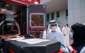 الصورة: الصورة: محمد بن راشد يتفقد غرفة عمليات إكسبو استعداداً لانطلاق الحدث الكبير