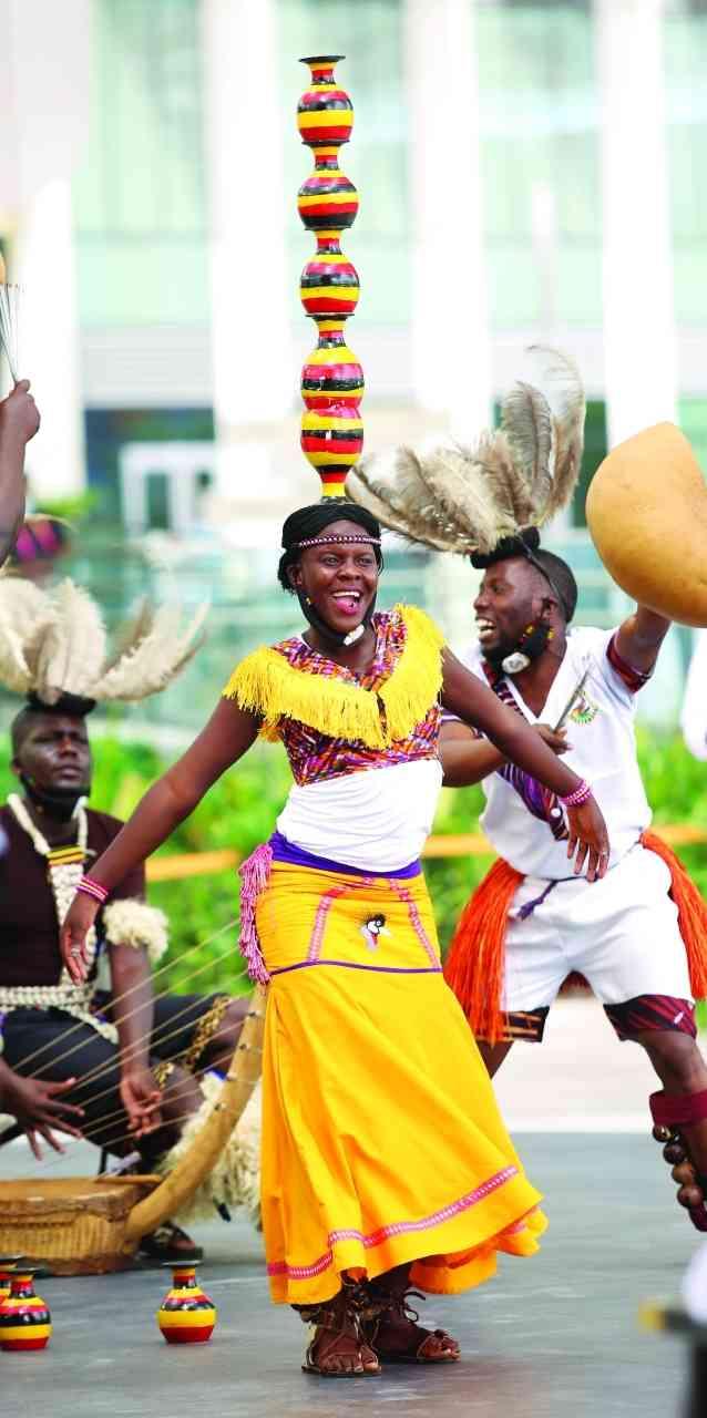 الصورة : » إيقاعات أفريقية تصدح في إكسبو