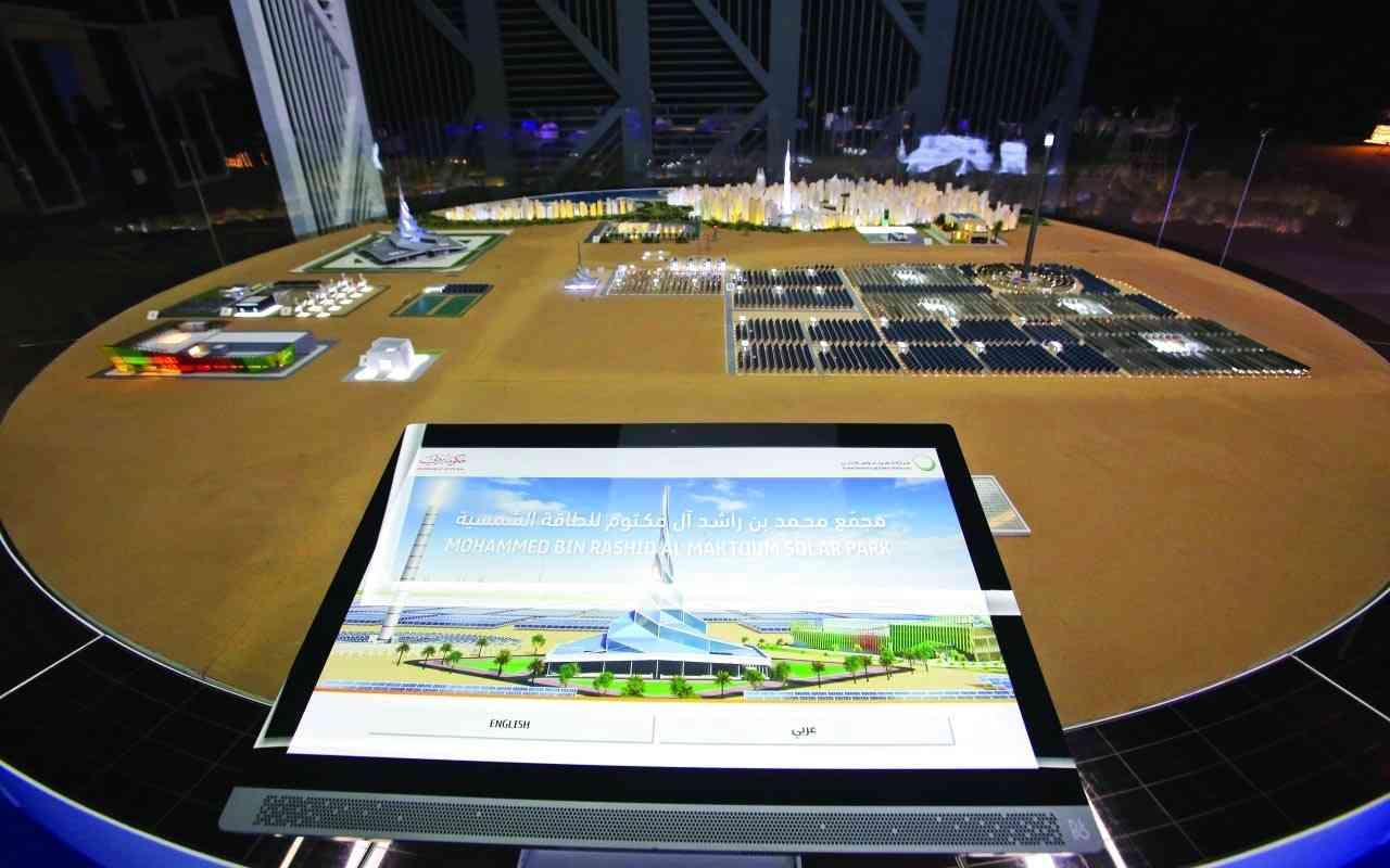 الصورة : مشروع مجمع محمد بن راشد للطاقة الشمسية نموذج لريادة شراكة القطاعين العام والخاص في دبي | تصوير : غلام كاركر
