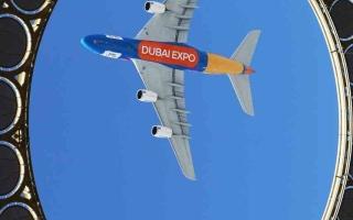 الصورة: الصورة: «إكســـبو» يحـلّـق مع طيران الإمارات