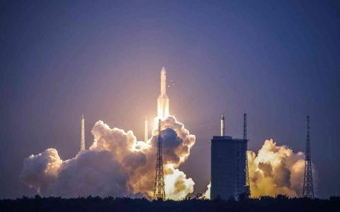 الصورة: الصورة: الصين تختبر صاروخ فرط صوتي في المدار
