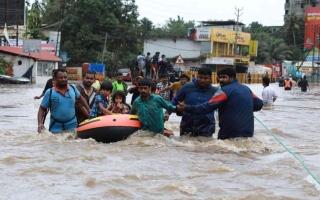 الصورة: الصورة: مقتل 10 أشخاص بسبب الأمطار الغزيرة بولاية كيرالا الهندية