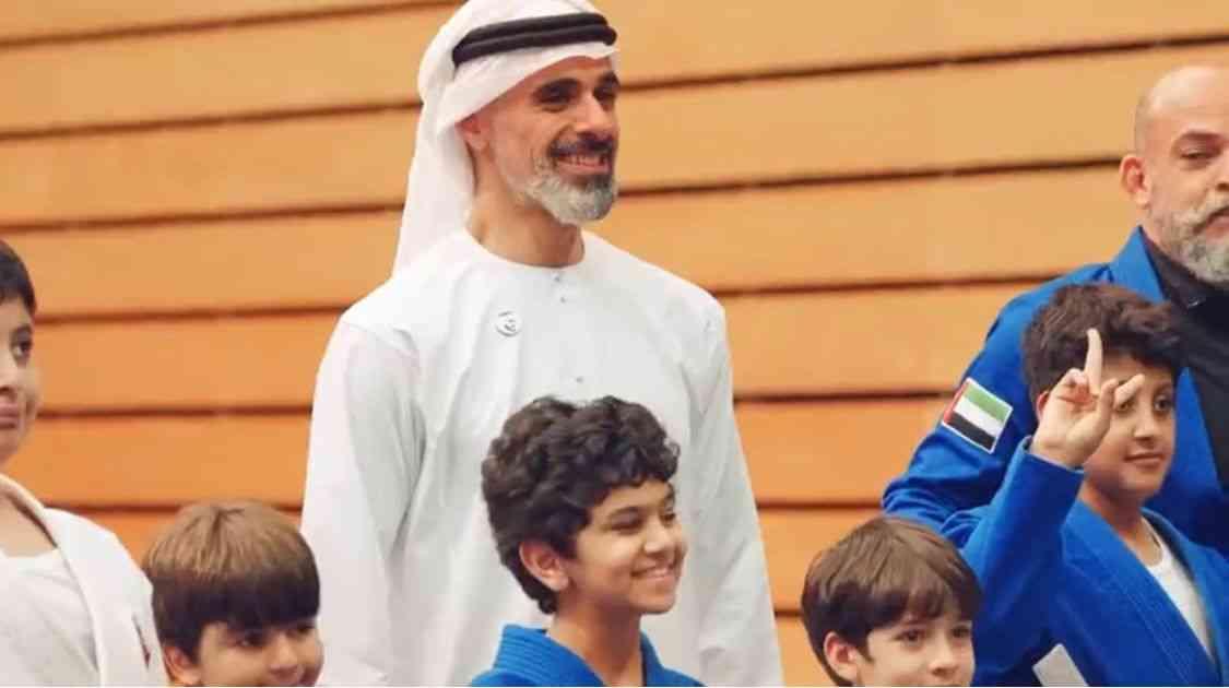 ردود فعل واسعة لزيارة خالد بن محمد بن زايد لمنتخب الجوجيتسو