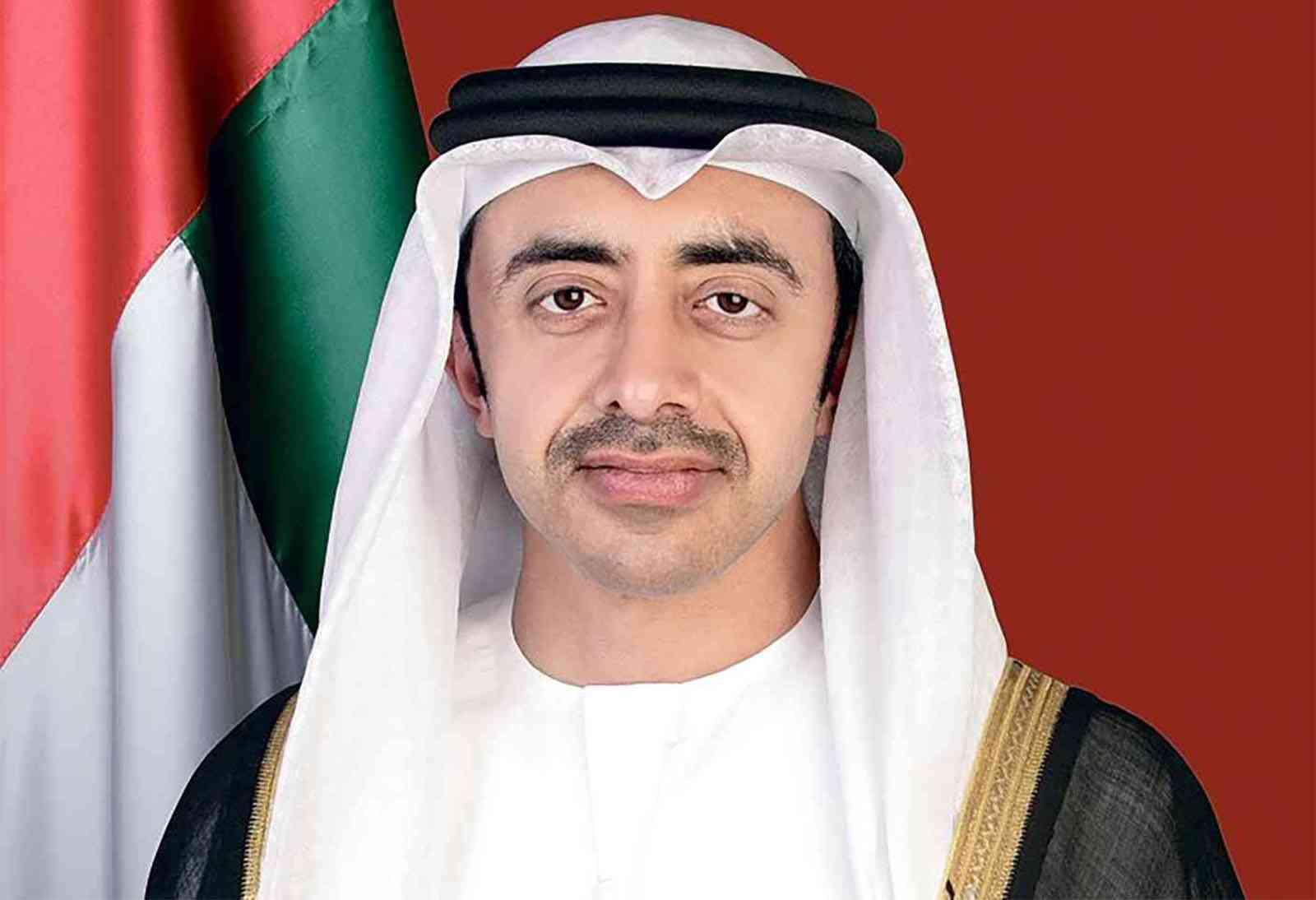 عبدالله بن زايد يشارك في اجتماع افتراضي مع وزراء خارجية أمريكا والهند وإسرائيل