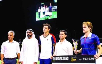 الصورة: الصورة: بيرغز بطل «تاي بريك  تنس دبي»