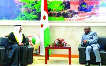 الصورة: الصورة: الرئيس البوروندي يتسلم أوراق اعتماد سفير الإمارات